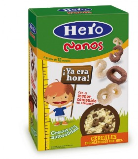 Cereales chocolateados Hero Nanos