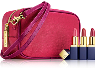 Estuche Evelyn Lauder y Elizabeth Hurley Dream Pink Collection Estee Lauder